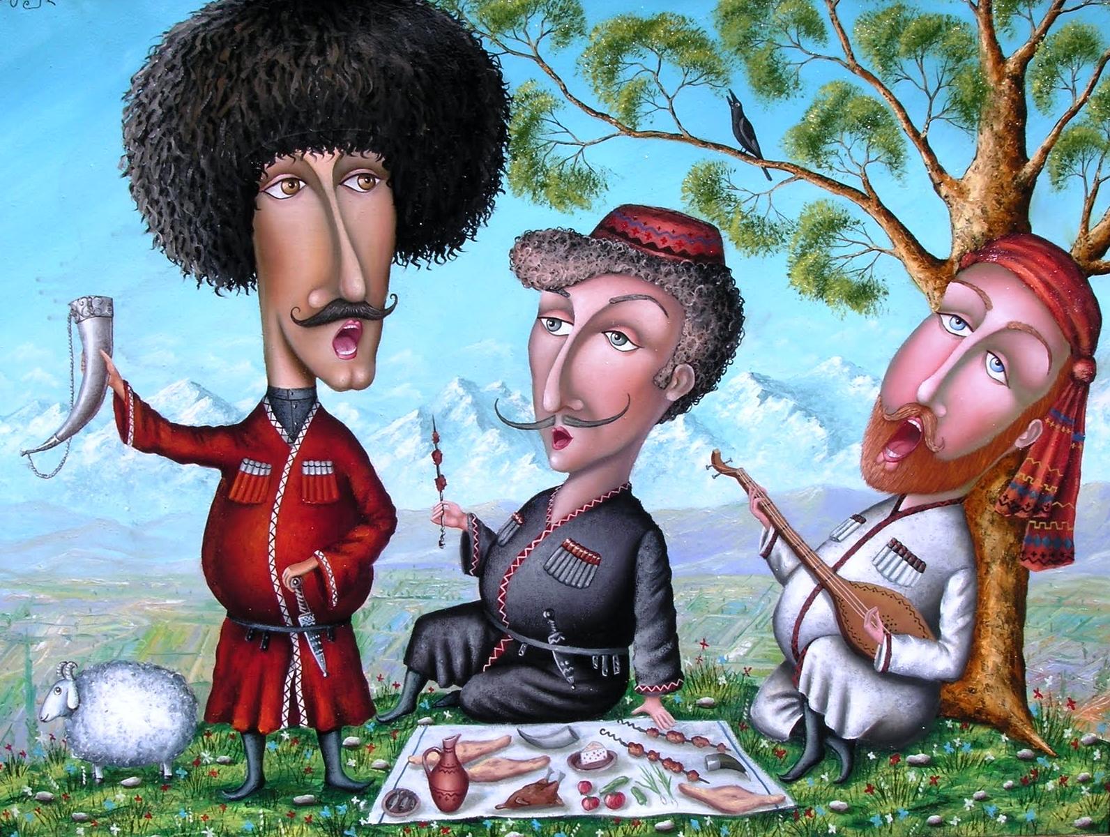 Картинка для, открытки грузинских женщин