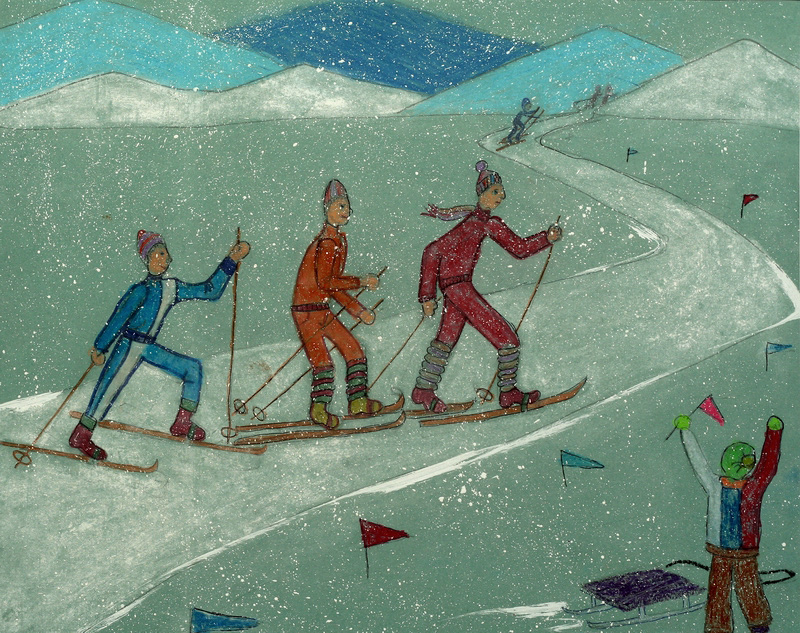 Человек в движении зимой картинки