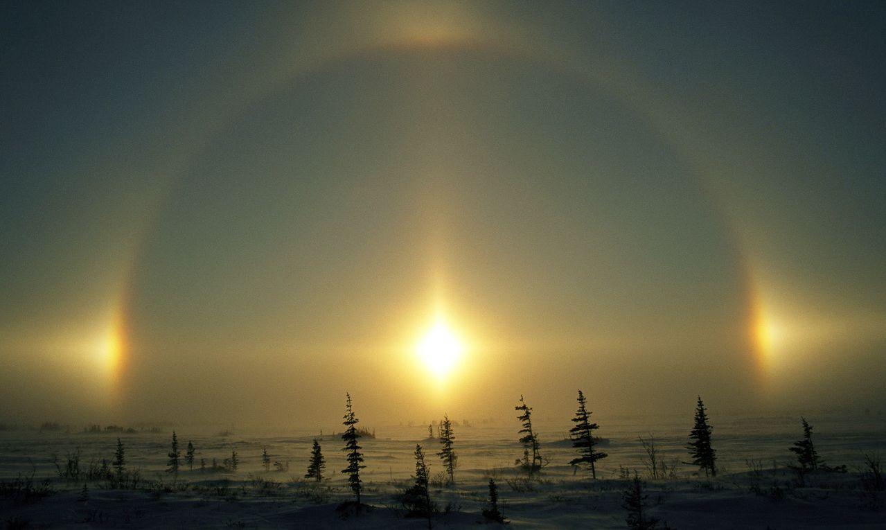Три солнца фото в ноябре