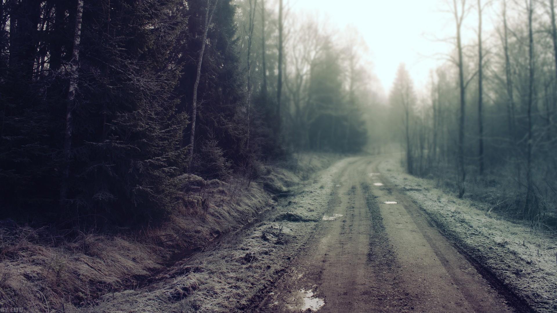 мрачная дорога  № 2508270 бесплатно