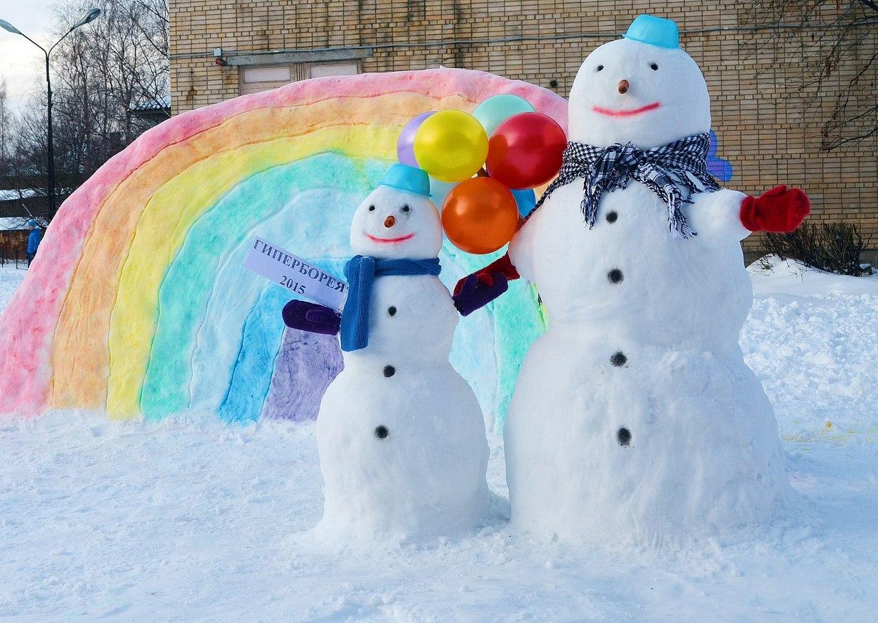 фигуры из снега своими руками картинки увидел голую