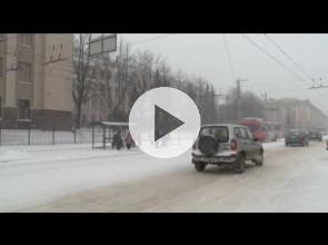 Снегопад и доррожные аварии