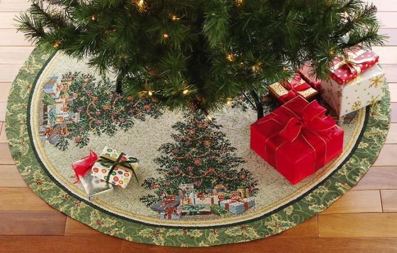 Подстилки под елку фото
