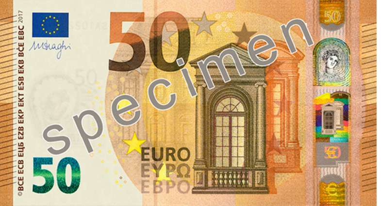 купюра 50 евро фото