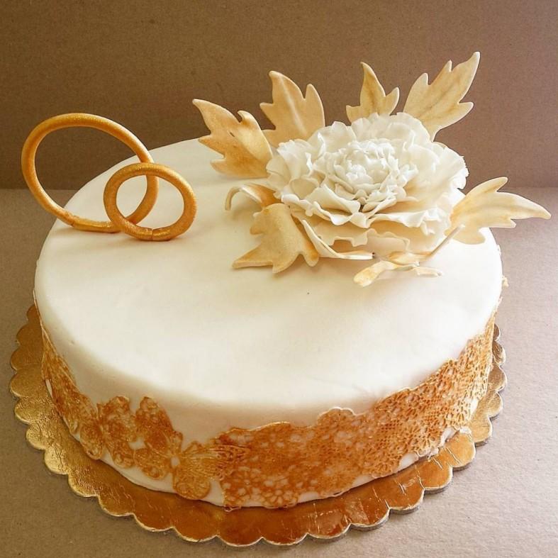 выяснилось, что свадебный торт фото одноярусный без мастики множество