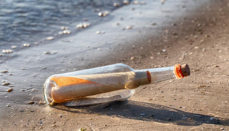 Кберегам Австралии приплыло старейшее вмире письмо  вбутылке