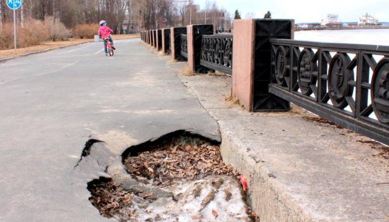 Руководитель Петрозаводска пообещала устранить ямы нанабережной