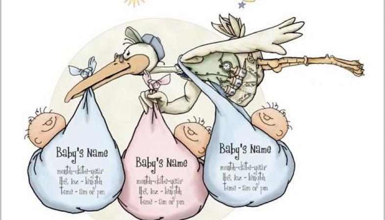 Поздравление с рождением тройняшек 83