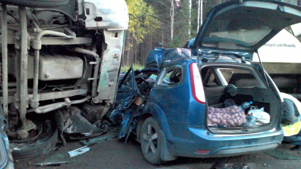 Водитель легковушки погиб после столкновения с лесовозом в Карелии ... b6be15437a9