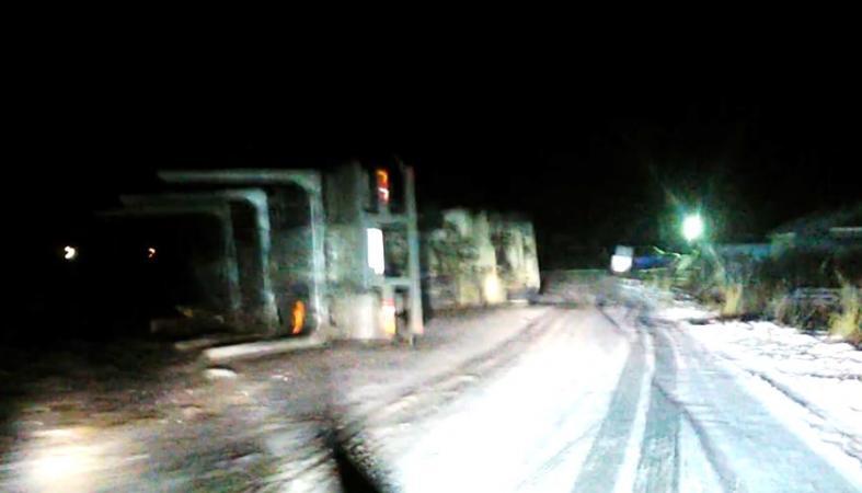 В Карелии лесовоз опрокинулся на крутом повороте: видео
