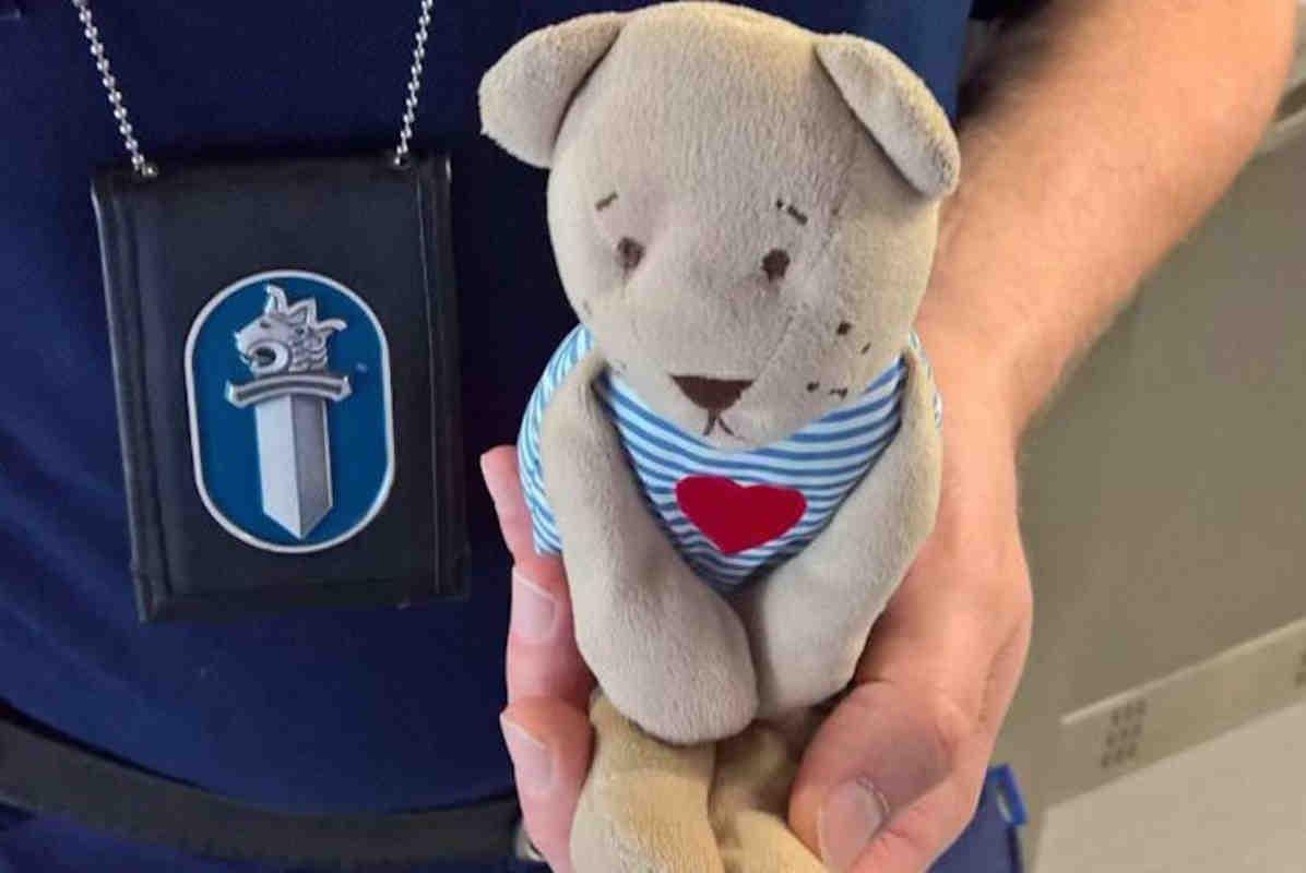 Финские полицейские вернули плюшевого медвежонка домой