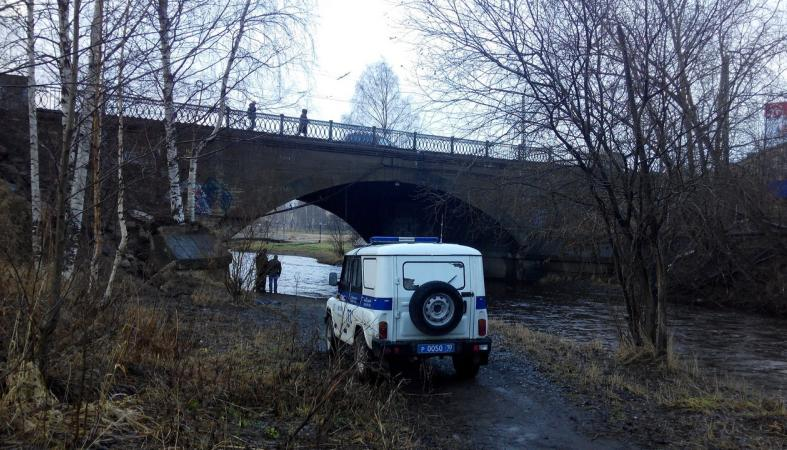 Труп мужчины выловили из реки в центре Петрозаводска (фото)