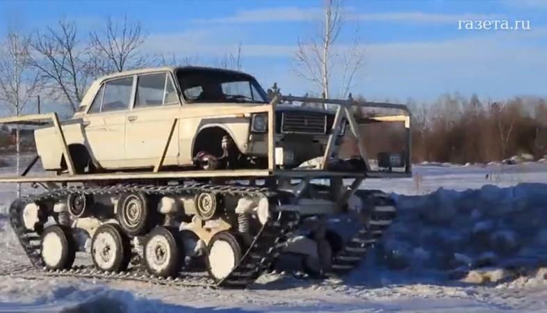 2282139aee5d ... ВАЗ-2105 и танковой гусеничной платформы, заказанной на одном из  уральских заводов. Агрегат обошелся мужчине в 100 тысяч рублей, сообщает  «Газета.ру».
