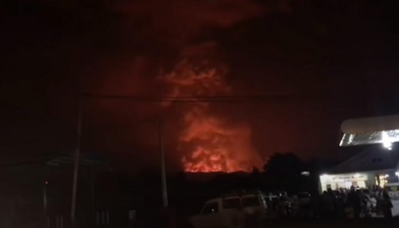 В ДР Конго проснулся мощный вулкан, жители в панике (видео)