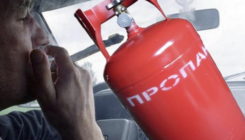 Газовый баллон взорвался в машине, когда водитель закурил