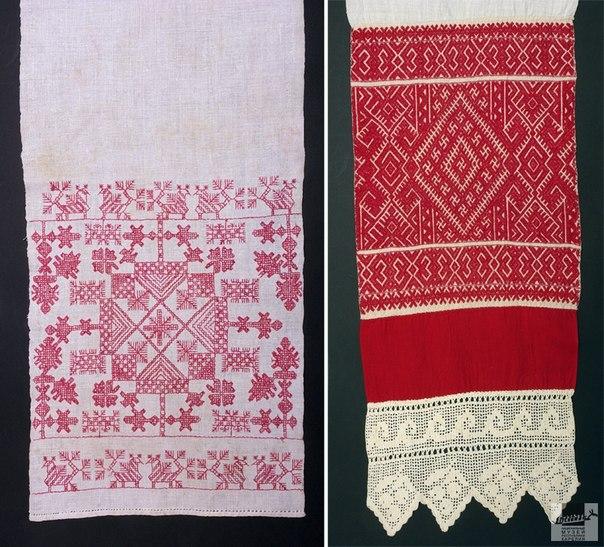 Как нарисовать полотенце с вышивкой